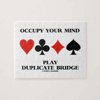 Occupy Your Mind Play Duplicate Bridge Puzzle