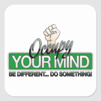 Occupy Your Mind Square Sticker