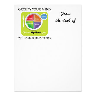 Occupy Your Mind With Dietary Proportions MyPlate Letterhead Template