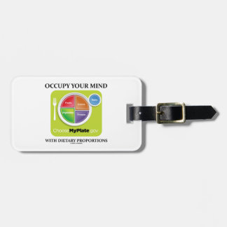 Occupy Your Mind With Dietary Proportions MyPlate Luggage Tag