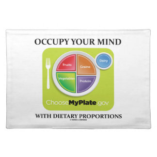 Occupy Your Mind With Dietary Proportions MyPlate Placemats