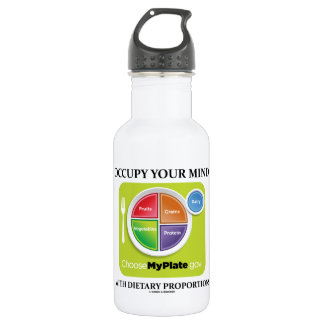 Occupy Your Mind With Dietary Proportions MyPlate Water Bottle