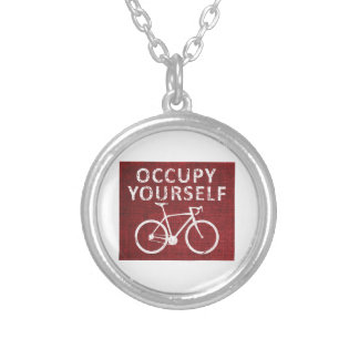 Occupy Yourself Silver Plated Necklace