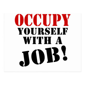 Occupy Yourself With A Job Postcard