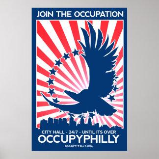 ¡OccupyPhilly - Eagle - se unen al empleo! Póster