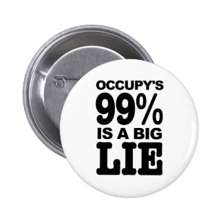 Occupy's 99% is a Big Lie Pinback Button