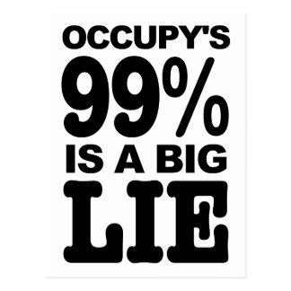 Occupy's 99% is a Big Lie Postcard