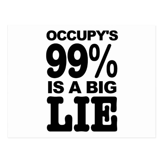 Occupy's 99% is a Big Lie Postcard