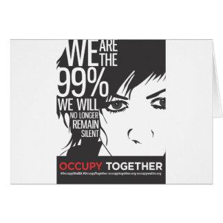 OccupyTogether_poster01 Tarjeta De Felicitación