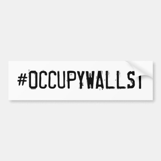#OCCUPYWALLST BUMPER STICKER