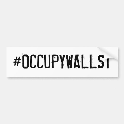 #OCCUPYWALLST BUMPER STICKERS