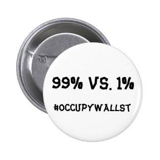 #OCCUPYWALLST PIN REDONDO 5 CM
