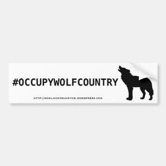 #OCCUPYWOLFCOUNTRY CAR BUMPER STICKER