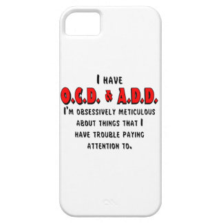 OCD-ADD Black/Red iPhone SE/5/5s Case