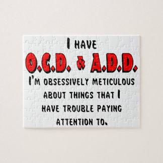OCD-ADD Black/Red Jigsaw Puzzle