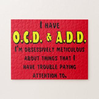 OCD-ADD Black/Yellow Jigsaw Puzzle