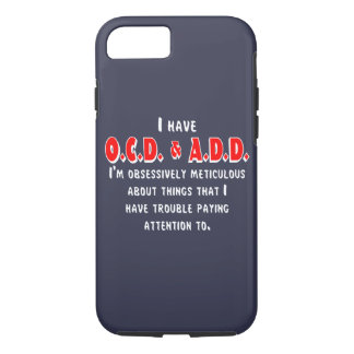 OCD-ADD White/Red iPhone 7 Case