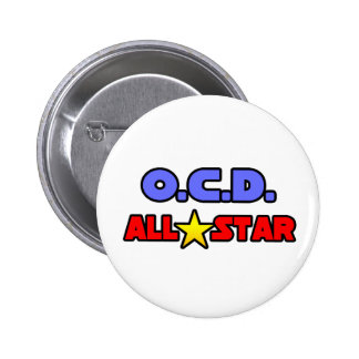 OCD All Star Pinback Button