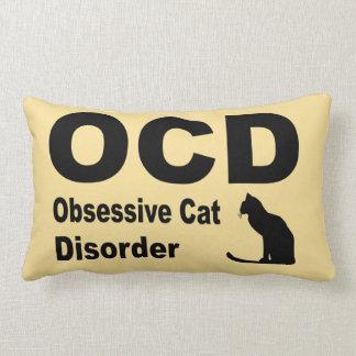 OCD (beige) Throw Pillows
