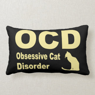 OCD (Black) Throw Pillow