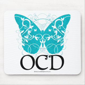 OCD Butterfly Mouse Pad
