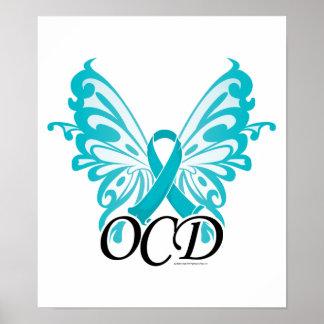 OCD Butterfly Ribbon Poster