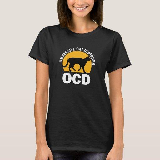 OCD- camiseta obsesiva del desorden del gato