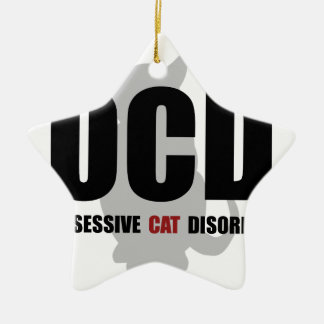 OCD Cat Ceramic Ornament