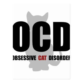 OCD Cat Postcard