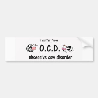 OCD Cow Bumper Sticker