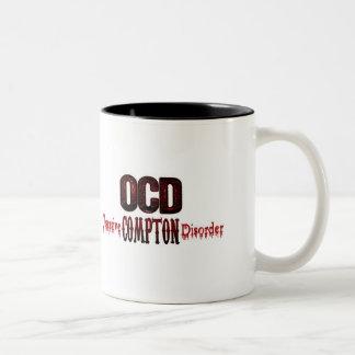 OCD- desorden obsesivo de Compton Taza Dos Tonos