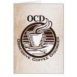 OCD: Desorden obsesivo del café Tarjeta Pequeña