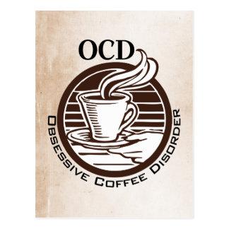 OCD: Desorden obsesivo del café Tarjetas Postales