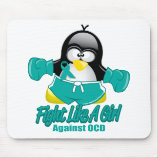 OCD Fighting Penguin Mouse Pad