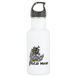 OCD Much? Crazy Owl Stainless Steel Water Bottle