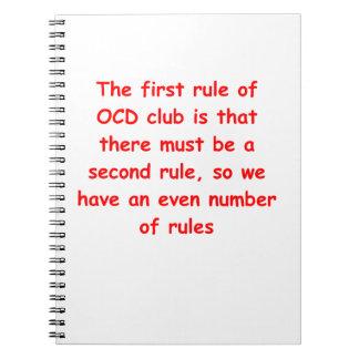 ocd spiral notebook
