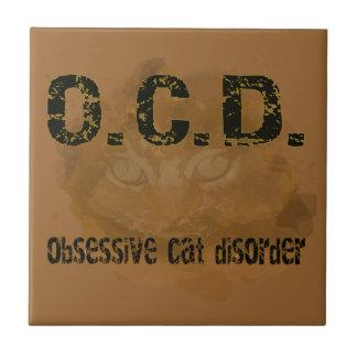 OCD - Obessive Cat Ceramic Tiles