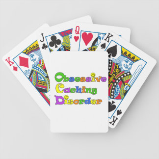 OCD OBSESSIVE CACHING DISORDER -  GEOCACHING BICYCLE PLAYING CARDS