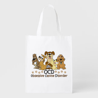 OCD Obsessive Canine Disorder Grocery Bags