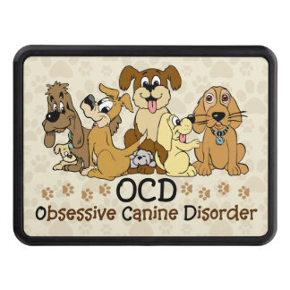 OCD Obsessive Canine Disorder Hitch Cover