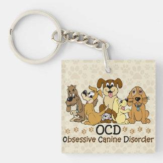 OCD Obsessive Canine Disorder Keychain