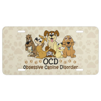 OCD Obsessive Canine Disorder License Plate
