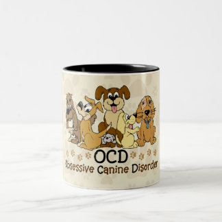 OCD Obsessive Canine Disorder Two-Tone Coffee Mug