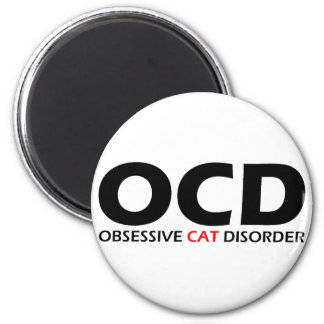 OCD - Obsessive Cat Disorder 2 Inch Round Magnet