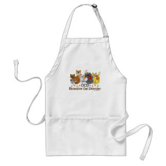 OCD Obsessive Cat Disorder Adult Apron