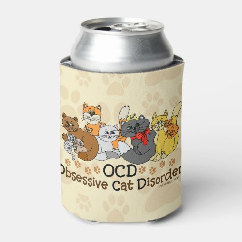 OCD Obsessive Cat Disorder Can Cooler