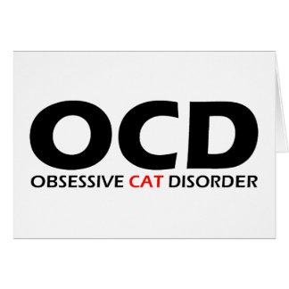 OCD - Obsessive Cat Disorder Card