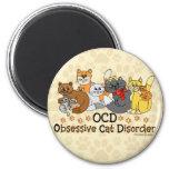 OCD Obsessive Cat Disorder Fridge Magnets