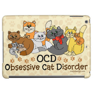OCD Obsessive Cat Disorder iPad Air Covers