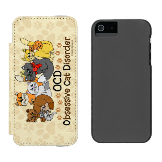 OCD Obsessive Cat Disorder iPhone SE/5/5s Wallet Case